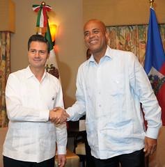 Reunión con el Excmo. Sr. Michel Joseph Martelly, Presidente de la República de Haití.