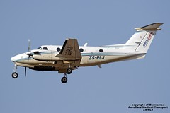 ZS-PLJ LMML 14-07-2016 (Burmarrad) Tags: cn king aircraft air transport super medical 200 airline beechcraft registration lmml aerocare bb1401 zsplj 14072016