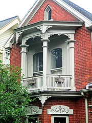 Victorian balcony (DannyAbe) Tags: victorian balcony woodwork rochester house