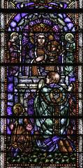 Czestochowa Devotion (Lawrence OP) Tags: baltimore ourlady czestochowa stainedglass windows devotion prayer consecration