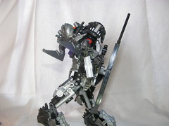 The Adversary 4 (quartzroolz) Tags: quartz roolz moc big burly man bionicle robot toa titan android bustersword guns skull spider mask god thats alot over design