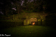 Turtleback Tomb on Okinawa (flymarinesch46) Tags: okinawa tomb turtleback night okinawan japan asia ancestor descendant picnic oban celebration lowlight candle ancient landscape shadow ghost pacific worldwarii relic old family burial funeral tradition
