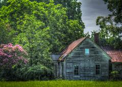 Abandoned House on Flint Hill Road (David Warlick) Tags: adobelightroom cherryvillenc gastoncountync northbrook old photoshop photomatixpro abandoned hdr house nikon postprocessed cherryville northcarolina unitedstates us