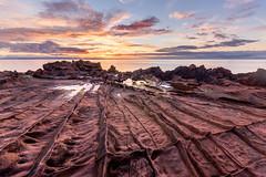 The ribbed foreshore (Tim Allott) Tags: rockpools clouds sunrise rock firthofclyde sea seashore coast newredsandstone permian sandstone weathering isleofarran arran 2016 pentaxk3 scotland