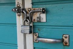 Locked (Steven Hessler) Tags: masterlock stainlesssteel locked handle closed stevenhessler canon60d hasp