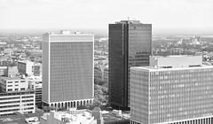 Buffalo Modern (L_) Tags: buffalo skyline blackandwhite bw monochrome skyscrapers modernism modernist internationalist internationalism