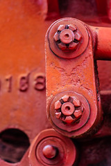 Stars in their own right (A Different Perspective) Tags: australia perth westernaustralia bolt cog machinery numeric nut orange railway red steel train