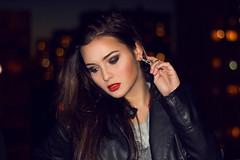 Rock style (ViktoriyaMurashko) Tags: girl rock fashion beauty citylights moscow redlips