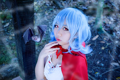 Remilia Scarlet - Little Red Riding Hood (bdrc) Tags: asdgraphy remilia scarlet touhou project vampire loli ojousama buri cosplay portrait girl little red riding hood prime sony a6000 sigma 30mm bat spider web manipulation