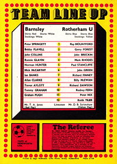 Barnsley vs Rotherham United - 1980 - Back Cover Page (The Sky Strikers) Tags: barnsley rotherham united football league division three oakwell review official match day magazine 20p