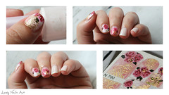 Nail art rose or #nail #nails #nailart #nailpolish (lovelynailsart) Tags: nailart nail nailpolish nails