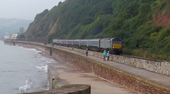 Sleepers running late dear ! (Stapleton Road) Tags: class57 sleepers teignmouth brush diesel railway seawall