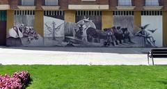 Miranda de Ebro - Fresque inspire des tableaux de Goya (Thethe35400) Tags: goya 3demayo lerve sculpture escultura eskultura skulptur estatua scultura scukpture