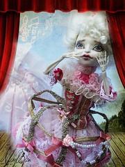 The Ghost's Waltz (NylonBleu) Tags: mh monster high doll skelita skelitta squelitta squelette ooak custo custom sleepingelf nylonbleu