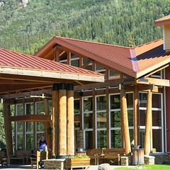 McKinley Chalet ~ HBM! (karma (Karen)) Tags: mckinleypark alaska mckinleychalet inns hotels windows trees spruce mountains benches squared hbm benchmonday