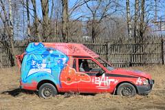 random graffiti (Thomas_Chrome) Tags: graffiti streetart street art spray can moving target object illegal vandalism suomi finland europe nordic car