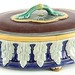 158. Majolica Lidded Serving Dish