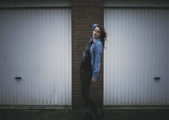 34/365 (daphne og.) Tags: portrait selfportrait fashion wall self project outside photography model doors garage bricks days 365