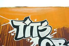 Tits (MR. NIC£ GUY ^.^) Tags: california white streetart black art up graffiti losangeles los tits angeles culture crew throw