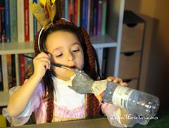 Rapunzel's puppet (luisa_m_c_m_cruz) Tags: painting mouse learning carnaval rapunzel papiermaché leonor