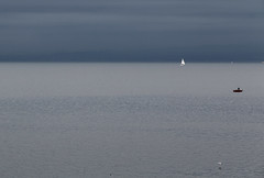of sea and sky  (cyberjani) Tags: sea boat adriatic istra