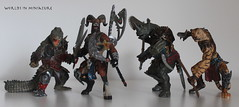 Anthro warriors (WorldsInMiniature) Tags: model tiger models replica fantasy rhino figure crocodile sword axe croc warrior warriors mutant pike hybrid ram figures papo mutants anthro replicas hybrids mouflon
