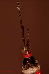 "Coke Falling ""up"" (Siobhan Bickerdike - gone to Ipernity) Tags: cola flash coke highspeed odcbizarre"