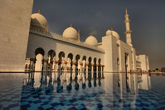 Reflection pool @ Sheikh Zayed Grand Mosque, EXPLORED #34 (BOBBY AYCOCK) Tags: reflection water dubai prayer mosque abudhabi unitedarabemirates canon1740l bobbyaycock