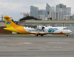 Cebu Pacific Air         ATR72             RP-C7253 (Flame1958) Tags: cebu mnl 0213 atr atr72 manilaairport lowcost 2013 cebupacific lowcostairline cebupacificair cebupac 120213 rpc7253