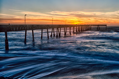 Sunset Pacifica (bongarang) Tags: ocean california water northerncalifornia pier waves unitedstates pacific dusk northamerica geography pacifica pacificapier