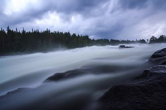 Born To Be Really Wild - Storforsen/The Great Rapid - Europe's Largest Freefalling Rapid (Maria_Globetrotter) Tags: summer panorama storm nature beautiful by fairytale forest canon river landscape perfect long exposure day gulf riverside cloudy sweden schweden lappland dramatic july swedish an le skog stunning sverige typical picturesque idyllic svj perfekt sucia suecia svensk 2012 sommar norrland zweden landskap svenska sude  svezia schn szwecja ruotsi vsterbotten bothnia isve 550d 1585    nd110 tsualainn  idylliskt  mariaglobetrotter