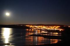 Cullen at night. (Kyle Simpson) Tags: ocean longexposure sea moon beach water stars lights scotland nikon moray cullen portknockie d3100 nikond3100
