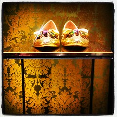 Some Girls Dreams in Gold (Elise Arod) Tags: shopping shoes shiny australia android smrgsbord squarephotos mobilephonephotography instagram htconex
