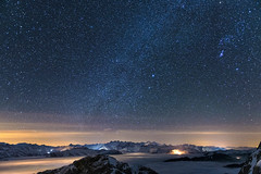 1 Night on the Pilatus (PhiiiiiiiL) Tags: light sky mountain berg sex night stars star schweiz switzerland licht march blog nikon long exposure flickr nightshot suisse nacht 4 himmel astro berge clear pilatus astrophotography orion faves 500 10000 starry nachtaufnahme sterne milkyway langzeitbelichtung nebelmeer milchstrasse astrofotografie visipix blinkagain d800e besteverdigitalphotography besteverexcellencegallery