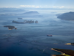 Blue Dream (ecstaticist - evanleeson.com) Tags: ocean blue sky canada islands ship gulf pacific flight columbia aerial helicopter british