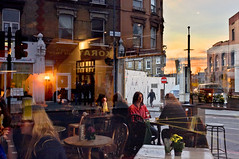 Dalston a bit later (johanna) Tags: sunset glass caf corner full dalston