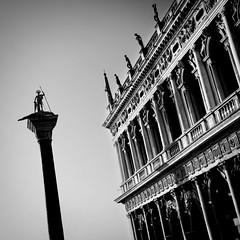 San Marco, Venezia [EXPLORED] (violinconcertono3) Tags: venice blackandwhite italy statue architecture facade square statues venezia davidhenderson 19sixty3 londonphotographersanmarco