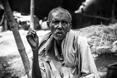 Aged wrinkles (Pradipta Basu) Tags: old portrait man male village rest farmer villager westbengal gourdaha