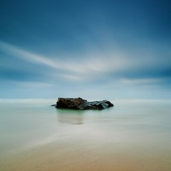 Tranquility (Martin Mattocks (mjm383)) Tags: ocean longexposure blue sky seascape texture water clouds canon sand rocks shadows horizon coastline bedruthansteps leefilters canoneos5dmarkii distagon2128ze cornwalllandscapes mjm383 martinmattocksphotography