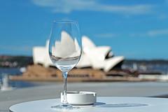 Wine Glass Overlooking The Opera House (djshanu) Tags: house glass restaurant opera wine outdoor sydney drinking smoking wineglass ashtray