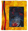 Cave painting (Lizinnie) Tags: collage quilt patchwork organza applikation rawedge