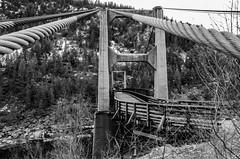 Brilliant Suspension (treehuggerdcg) Tags: bridge bw nikon suspension suspensionbridge brilliant castlegar oldbridge doukhobor tmsh d7000 313sh1