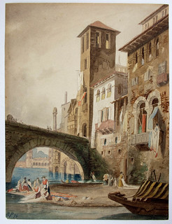 Kanal in Venedig - Canal in Venice 1894 B.Plockhorst - Bernhard Plockhorst