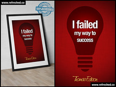 Thomas Edison poster (Refreshed.co) Tags: life school red lightbulb poster office classroom quote thomas failure teacher quotes posters inventor teachers inspirational inspire teach success learn failed edison motivate motivational succeed empower empowering