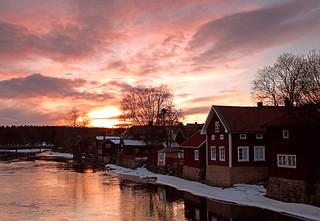 Sunset in Arboga