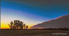 Subversive Dawn (T i s d a l e) Tags: winter field weather march nikon farm front easternnc tisdale cloudbank 2013 d700 subversivedawn