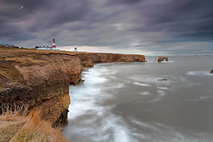 Moody Blues (Ian Flanagan) Tags: longexposure sunset sea lighthouse water canon ian boats arch ships cliffs shops sunderland flanagan whitburn 550d canon550d
