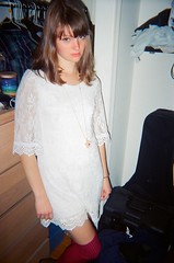Girl (emibell) Tags: nyc november party eastvillage ny newyork fall students night hipsters nightlife 2012 collegeparty pethospital newyorkapartment apartmentparty collegekids indiekids citykids kodakdisposable jasonlester emibell newyorkstudents newyorkapartmentparty
