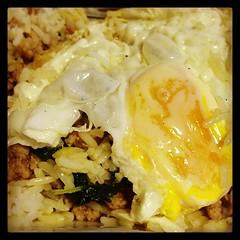 กะเพราไก่ไข่เค็ม+ไข่ดาว