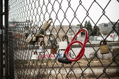 Locks (williecb750) Tags: urban vancouver fence locks